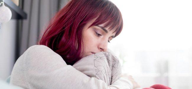 woman with seasonal affective disorder